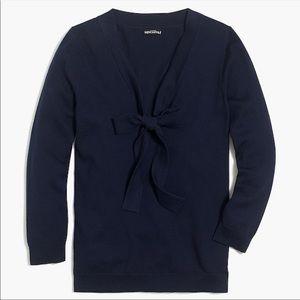 Jcrew tie collar sweater